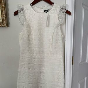 Jcrew ruffle mixed lace dress size 4
